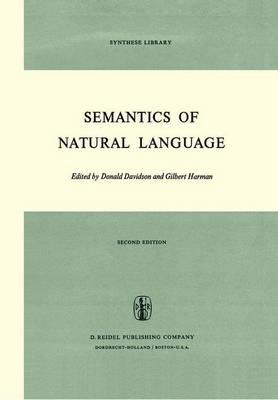 Semantics of Natural Language - Synthese Library 40 (Hardback)