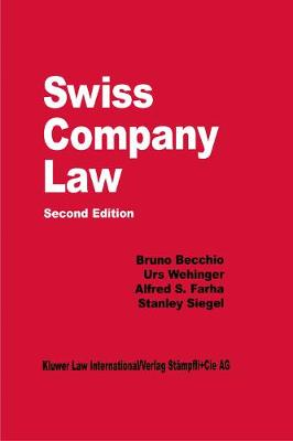 Swiss Company Law - Comparative Law Yearbook Series 18 (Hardback)