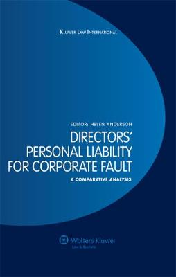 Directors' Personal Liability for Corporate Fault: A Comparative Analysis (Hardback)