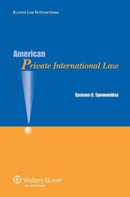 American Private International Law (Paperback)
