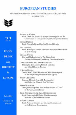 Food, Drink and Identity in Europe - European Studies 22 (Hardback)