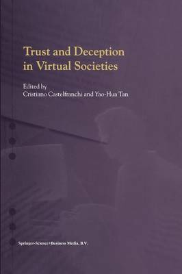 Trust and Deception in Virtual Societies (Paperback)