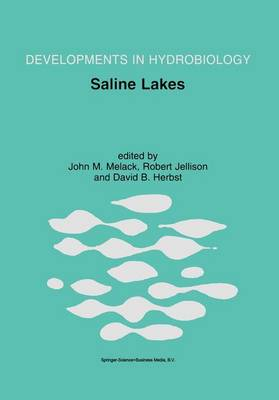 Saline Lakes: Publications from the 7th International Conference on Salt Lakes, held in Death Valley National Park, California, U.S.A., September 1999 - Developments in Hydrobiology 162 (Paperback)