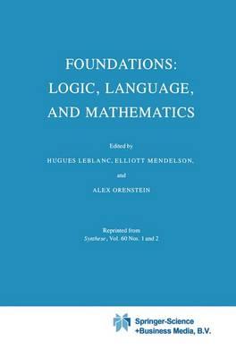 Foundations: Logic, Language, and Mathematics (Paperback)