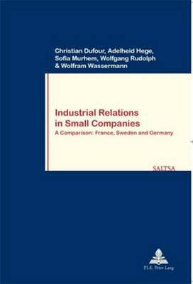 Industrial Relations in Small Companies: A Comparison: France, Sweden and Germany - Travail & Societe/Work & Society 56 (Paperback)