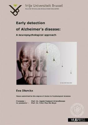 Early Detection of Alzheimer's Disease: A Neuropsychological Approach (Paperback)