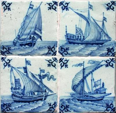 Dutch Ship Tiles: Amsterdam, Utrecht, Harlingen, Makkum 1660-1980 (Paperback)