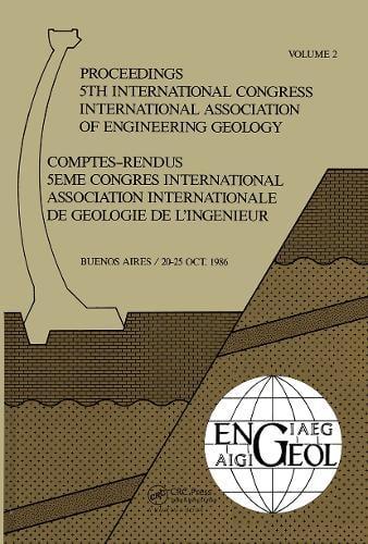 5th Int Congress Int Assoc of Engineering Geology Argen (Hardback)