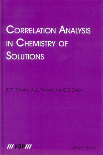 Correlation Analysis in Chemistry of Solutions (Hardback)