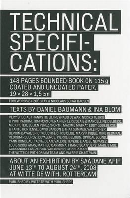 Saadane Afif: Technical Specifications (Hardback)