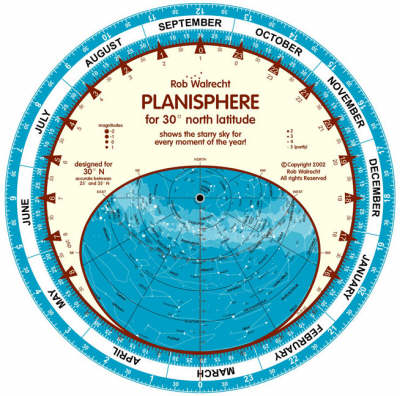 Planisphere for 30 Degrees North Latitude: Shows the Starry Sky for Every Moment of the Year - English planispheres PLN-30