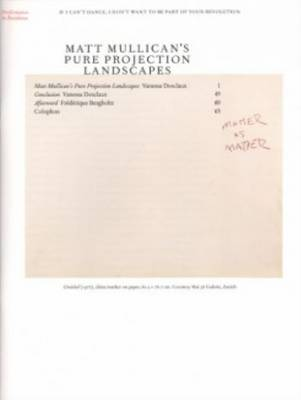 Matt Mullican's Pure Projection Landscapes (Paperback)