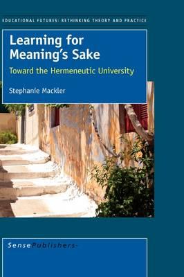 Learning for Meaning's Sake (Hardback)