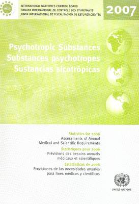 Psychotropic Substances: Statistics for 2006 Assessments of Annual Medical and Scientific Requirements for Substances in Schedules II, III and IV of the Convention on Psychotropic Substances of 1971 (Paperback)