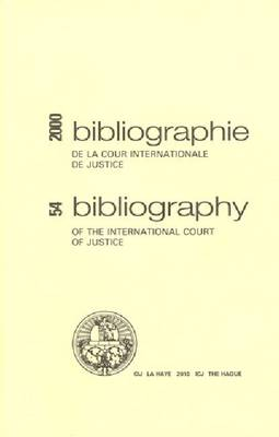 Bibliography of the International Court of Justice (Paperback)