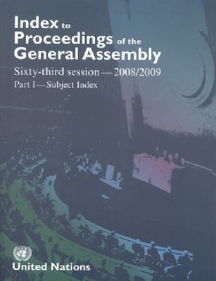 Index to Proceedings of the General Assembly 2008-2009: Subject Index (Paperback)