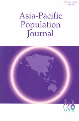Asia-Pacific Population Journal, 2011, Volume 26, Part 2 (Paperback)