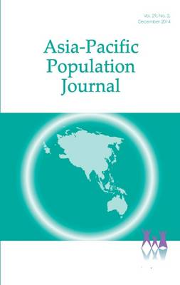 Asia-Pacific Population Journal 2014 (Paperback)