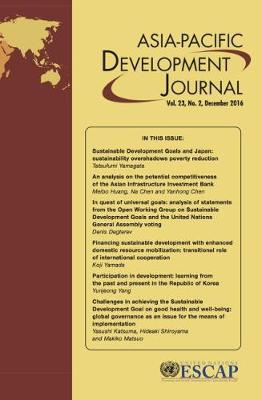 Asia-Pacific Development Journal, Volume 23, Number 2, December 2016 - Asia-Pacific Development Journal (Paperback)