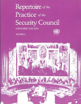 Repertoire of the Practice of the Security Council (Paperback)