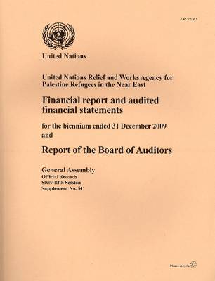 Financial Report and Audited Financial Statements and Report of the Board of Auditors: United Nations Development Programme, for the Biennium Ended 31 December 2009 (Paperback)