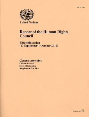 Report of the Human Rights Council (Paperback)