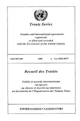 Treaty Series: Volume 2607 (Paperback)