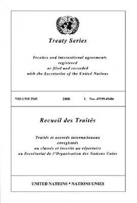 Treaty Series: Volunme 2545 (Paperback)