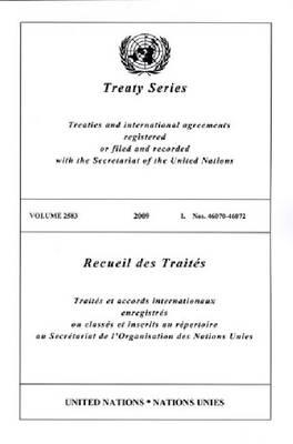 Treaty Series: Volume 2583 (Paperback)