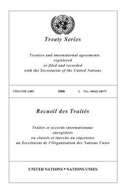 Treaty Series 2489 - Treaty Series (Paperback)
