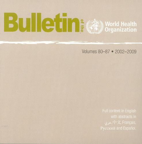 Cd-rom Bulletin of WHO 2002-2009: v. 80-87 (Paperback)