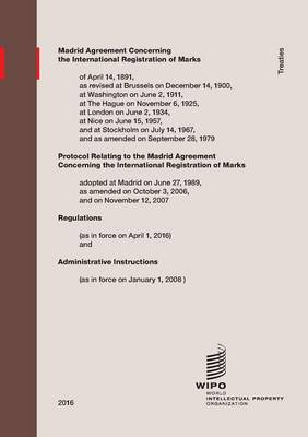 Madrid Agreement Concerning the International Registration of Marks (Paperback)