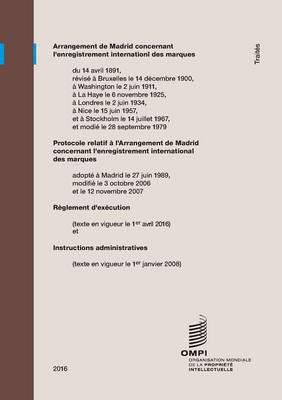 Arrangement de Madrid Concernant L'Enregistrement International Des Marques (Paperback)