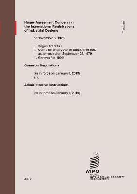 Hague Agreement Concerning the International Registration of Industrial Designs (Paperback)