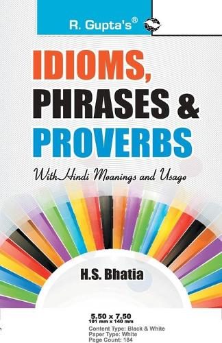 Idioms, Phrases & Proverbs with Hindi Meanings & Usage (Paperback)