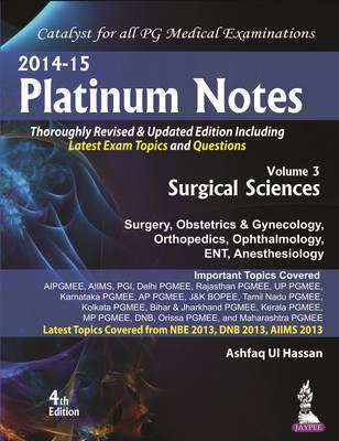 Platinum Notes : Surgical Sciences (Paperback)