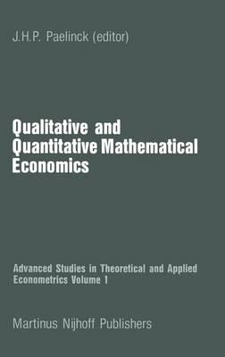 Qualitative and Quantitative Mathematical Economics - Advanced Studies in Theoretical and Applied Econometrics 1 (Paperback)