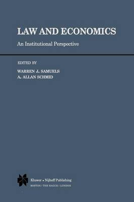 Law and Economics: An Institutional Perspective (Paperback)