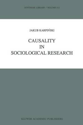 Causality in Sociological Research - Synthese Library 212 (Paperback)