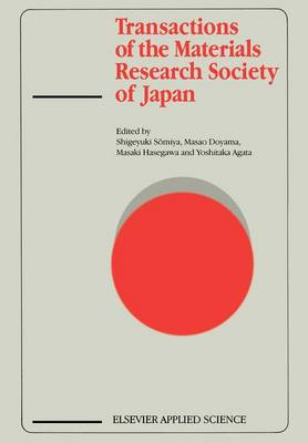 Transactions of the Materials Research Society of Japan (Paperback)