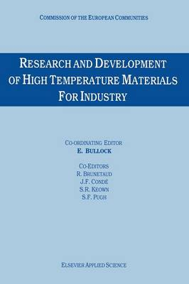 Research and Development of High Temperature Materials for Industry (Paperback)