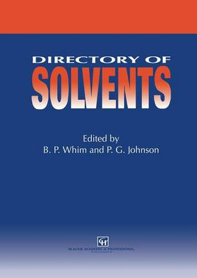 Directory of Solvents (Paperback)