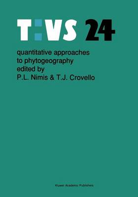 Quantitative approaches to phytogeography - Tasks for Vegetation Science 24 (Paperback)