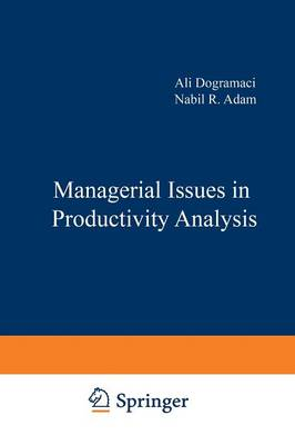 Managerial Issues in Productivity Analysis - Studies in Productivity Analysis 7 (Paperback)