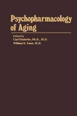 Psychopharmacology of Aging - Aging (Paperback)