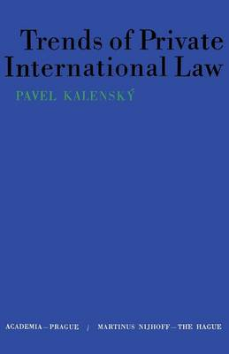 Trends of Private International Law (Paperback)