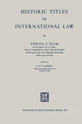 Historic Titles in International Law (Paperback)