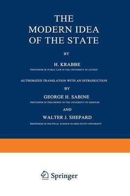 The Modern Idea of the State (Paperback)