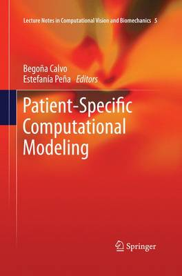 Patient-Specific Computational Modeling - Lecture Notes in Computational Vision and Biomechanics 5 (Paperback)