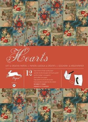 Hearts: Gift Wrapping Paper Book Vol. 19 (Paperback)